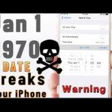 iOS Cihazlarında 01 Jan 1970!