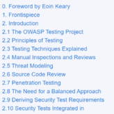 OWASP WSTG Contents (v4.1)